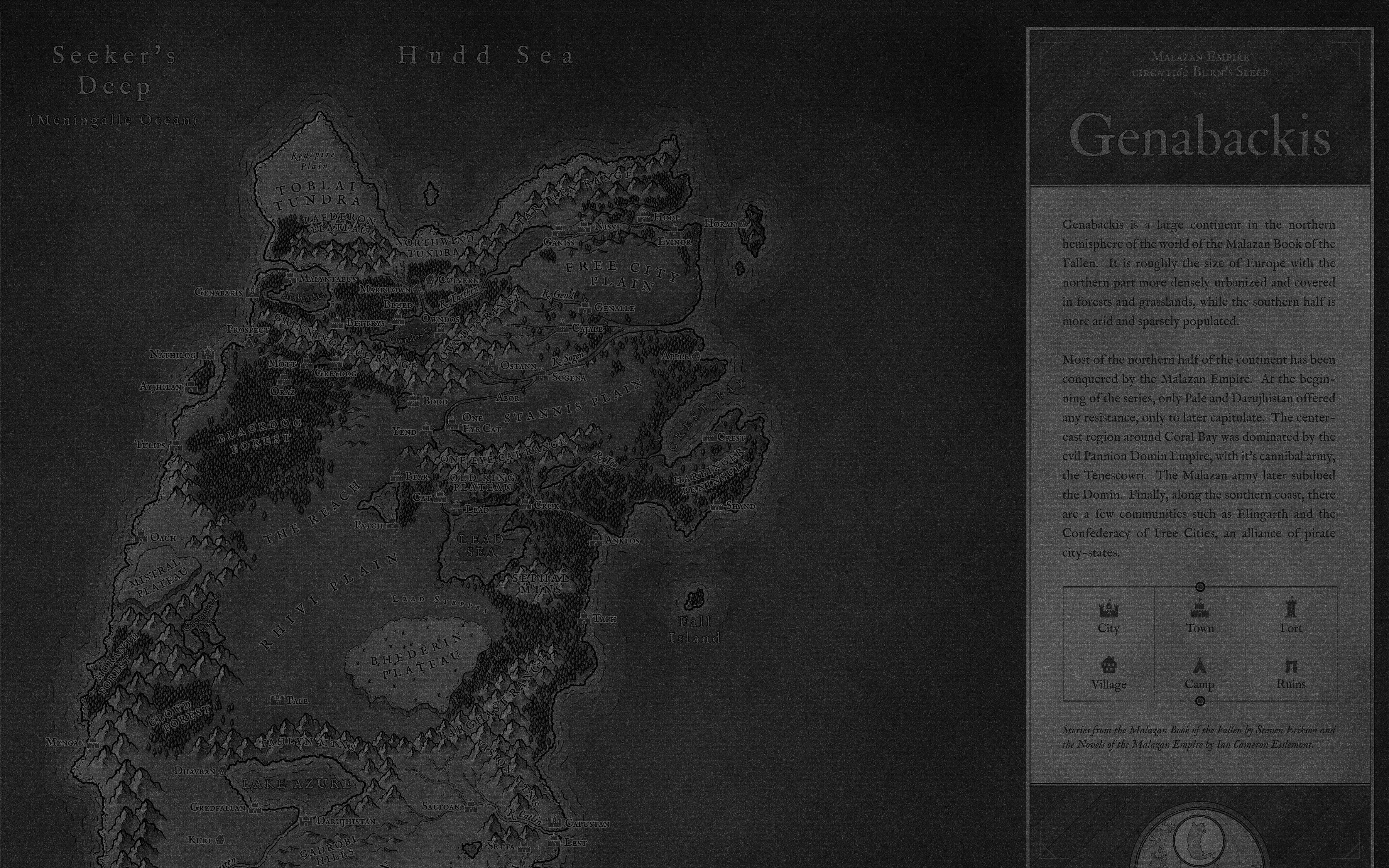 (Complete) Genabackis Map